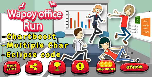 Office Runner + Admob + Leaderboard +Multiple char - CodeCanyon Item for Sale