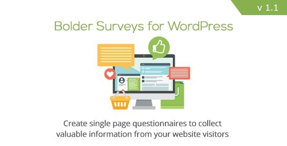 Bolder Surveys for WordPress - CodeCanyon Item for Sale