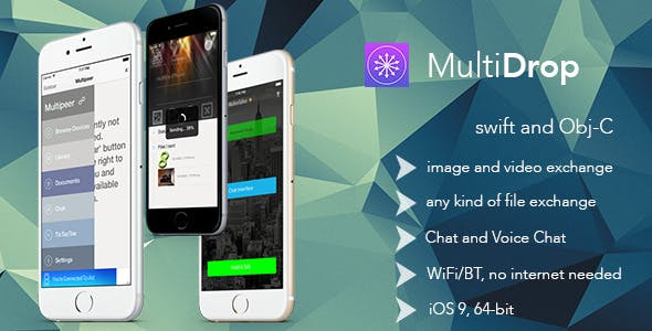 MultiDrop - Share Send Transfer Files Anywhere with WiFi/BT