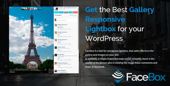 FaceBox WordPress Photo Viewer Plugin Lightbox - CodeCanyon Item for Sale