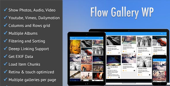 Flow Gallery - Multimedia Gallery Wordpress Plugin