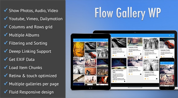 Flow Gallery - Multimedia Gallery Wordpress Plugin - CodeCanyon Item for Sale