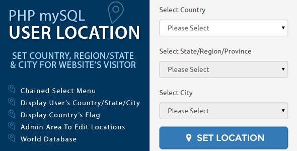 PHP mySQL User Location - CodeCanyon Item for Sale