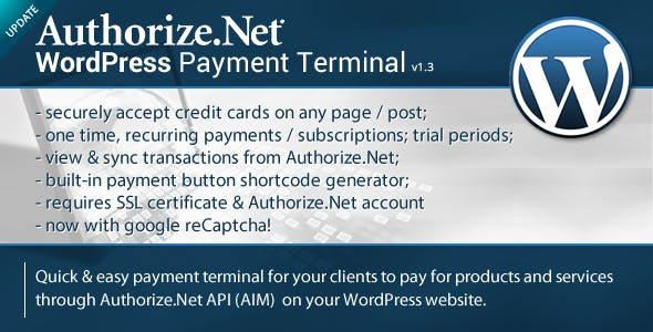 Authorize.Net Payment Terminal Wordpress