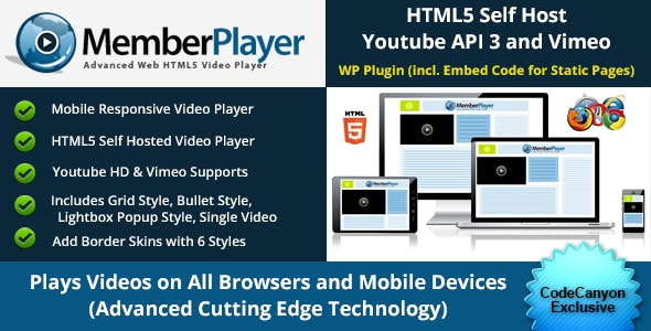 Ultimate Video Player - with Grid Style and Lightbox Popups, Youtube & Vimeo Included