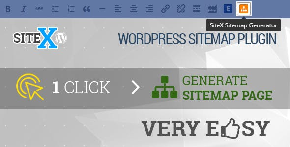 SiteX sitemap generator - Wordpress plugin