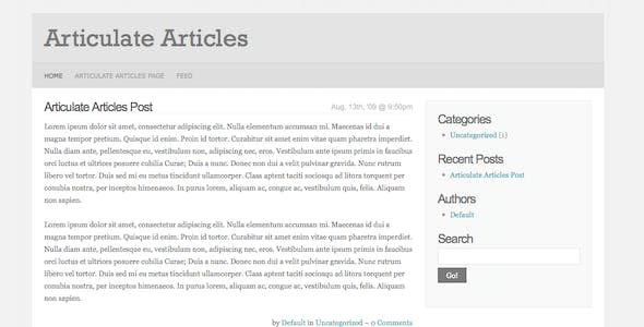 Articulate Articles