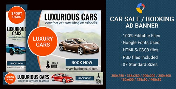 GWD - Car Sale / Booking Banner - 7 Sizes