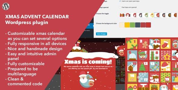 Xmas Advent Calendar - Wordpress Plugin