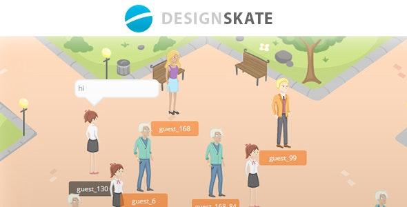 VirtualSpaces - Socket io Virtual Chat Room by DesignSkate