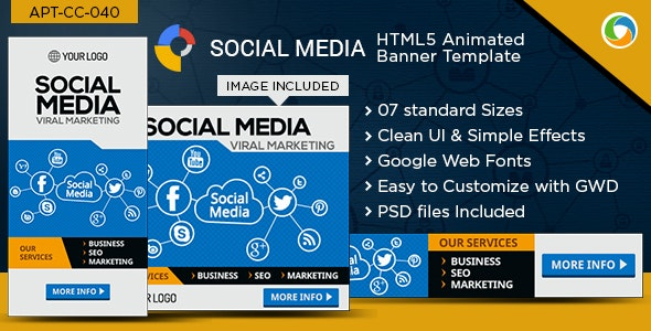 GWD- HTML5 Social Media Marketing Banners  - CodeCanyon Item for Sale