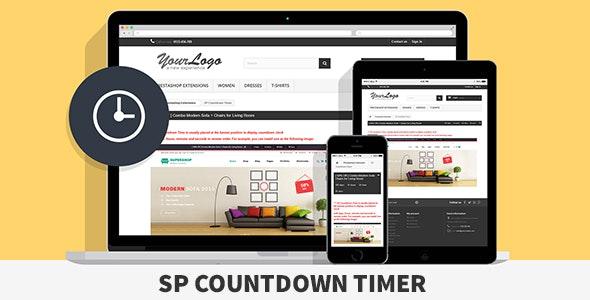 SP Countdown Timer - Responsive Prestashop Module - CodeCanyon Item for Sale