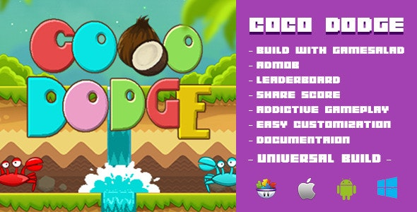 Coco Dodge Game Template - CodeCanyon Item for Sale