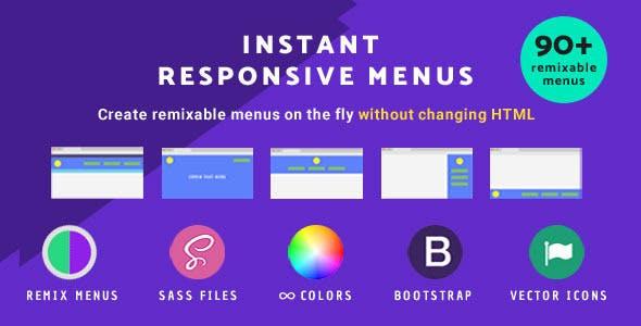 Instant Responsive menus