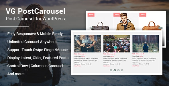 VG PostCarousel - Post Carousel for WordPress - CodeCanyon Item for Sale