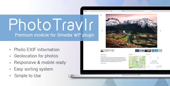 PhotoTravlr v1.40 | Gmedia Gallery WP plugin module - CodeCanyon Item for Sale