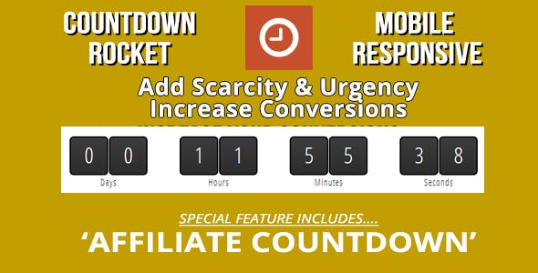 Countdown Rocket with Page Expiration & Evergreen