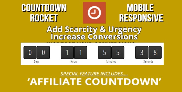 Countdown Rocket with Page Expiration & Evergreen - CodeCanyon Item for Sale
