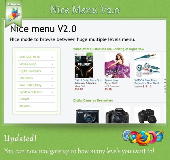 Nice Menu V1.0 - CodeCanyon Item for Sale