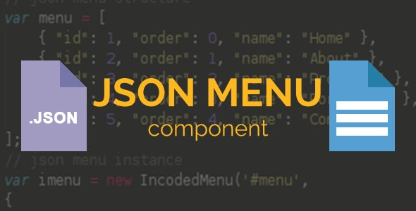 Incoded JSON Menu Component - CodeCanyon Item for Sale