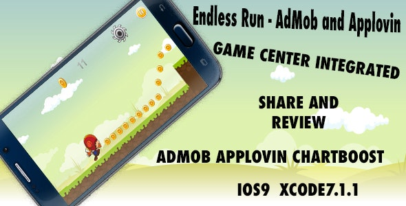 Endless Run - AdMob + Applovin + Chartboost - CodeCanyon Item for Sale