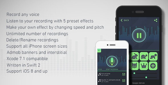 Cool Voice Recorder & Changer with Admob - CodeCanyon Item for Sale