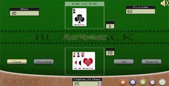 Blackjack Casino Game - HTML5 Mobile Optimized