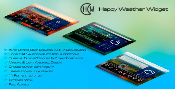 PHP Happy Weather Widget - CodeCanyon Item for Sale