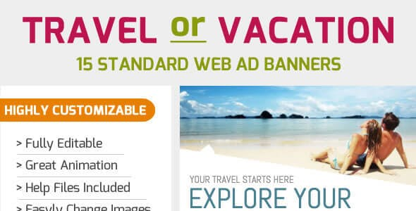 Travel Banner Set - 15 Sizes