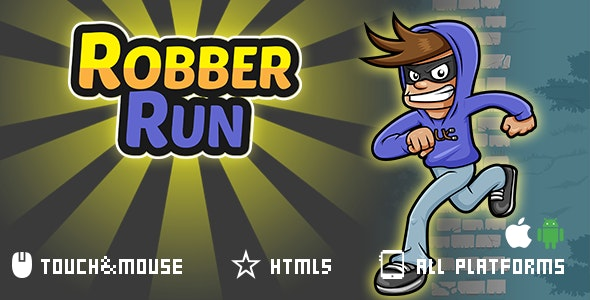 Robber Run- html5 mobile game - CodeCanyon Item for Sale