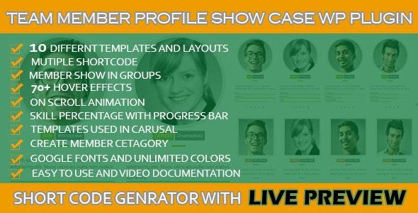 WordPress Team Profile Showcase  - CodeCanyon Item for Sale