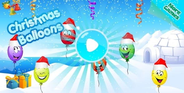Christmas Balloons - HTML5 Mobile Game (Construct 3 | Construct 2 | Capx)