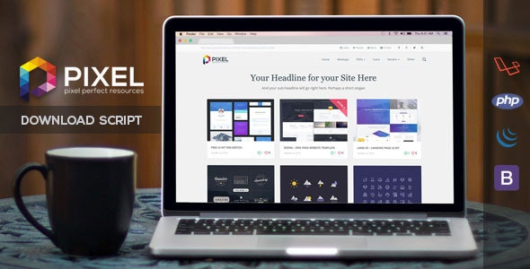 Pixel - Premium Download Script - CodeCanyon Item for Sale