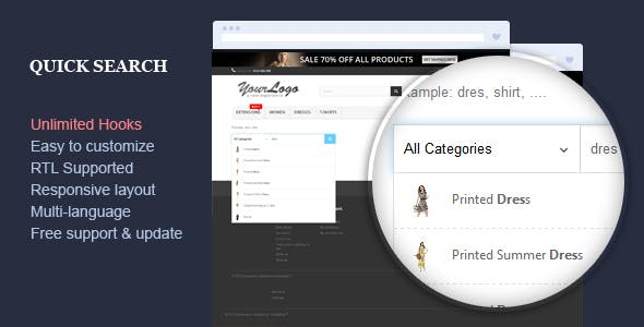 Quick Search - Responsive Prestashop Module
