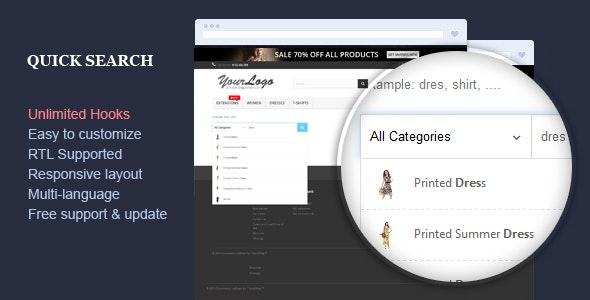 Quick Search - Responsive Prestashop Module - CodeCanyon Item for Sale