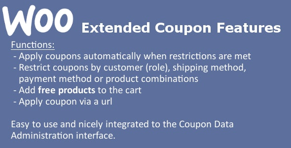 WooCommerce Extended Coupon Features PRO - CodeCanyon Item for Sale