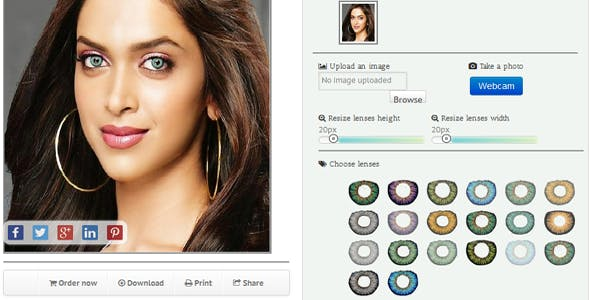 "Lenses Virtual Try-On ""Wordpress plugin"""