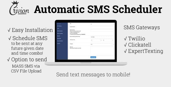 PHP Automatic SMS Scheduler