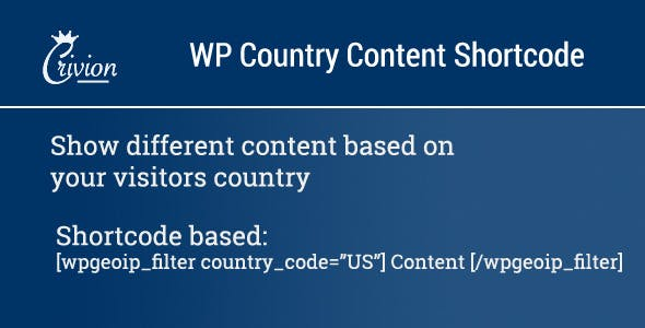 WP Country Specific Content