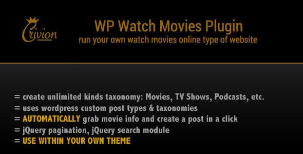 WP Watch Movies & TV Shows Online