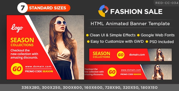 HTML5 Fashion Banners - GWD - 7 Sizes - CodeCanyon Item for Sale
