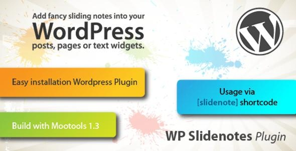 WP Slidenotes Plugin - CodeCanyon Item for Sale