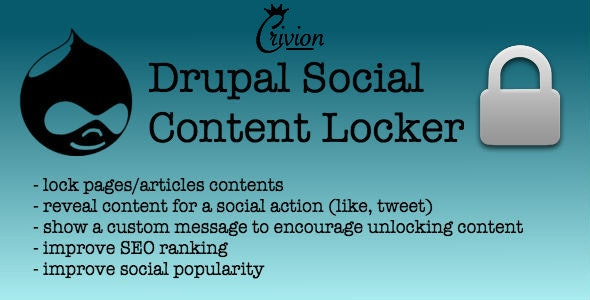 Social Content Locker for Drupal - CodeCanyon Item for Sale