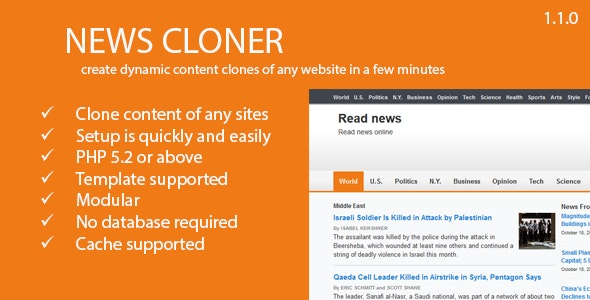 News Cloner  - Make copy of any content - CodeCanyon Item for Sale
