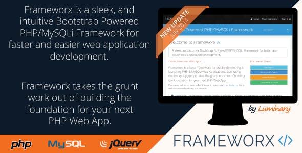 Frameworx - Bootstrap Powered PHP MySQLi Framework