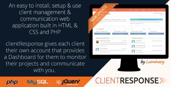 clientResponse Responsive PHP Client Management