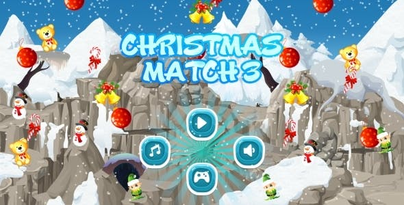 Christmas Match3 - HTML5 Mobile Game AdMob (Construct 3 | Construct 2 | Capx)