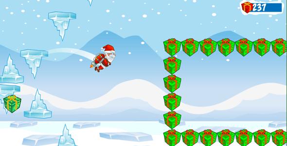 Flying Santa Admob+Powerups+Endless