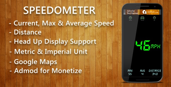Android Speedometer with Admob - CodeCanyon Item for Sale