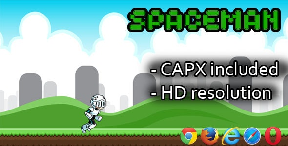 SpaceMan - HTML5 game(CAPX) - CodeCanyon Item for Sale